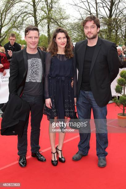 Florian Panzner Zazie Knepper and Ronald Zehrfeld attend the 50th Grimme Award at Theater der Stadt Marl on April 4 2014 in Marl Germany