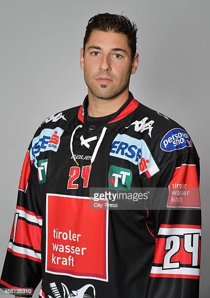 Florian Pedevilla of HC TWK Innsbruck during the action shot on august 14, 2014 in Innsbruck, Germany.