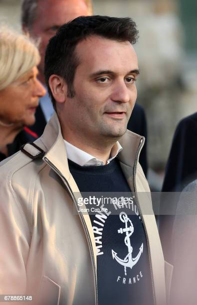 Florian Philippot attends a rally by French presidential candidate Marine Le Pen of 'Front National' party before sunday's second round runoff of the...