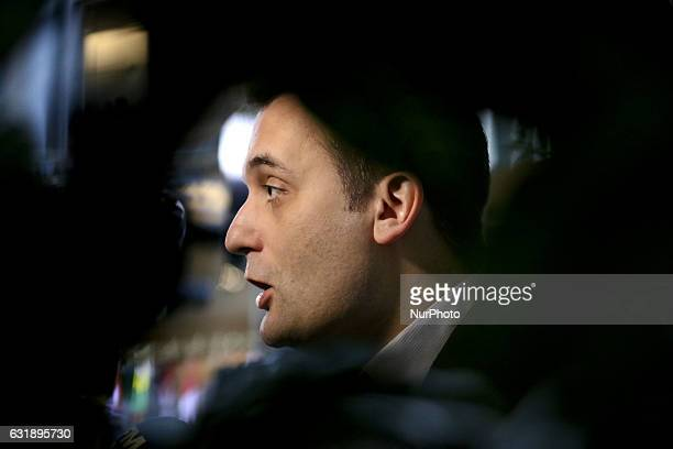 Florian PHILIPPOT Groupe Europe des Nations et des Libertés in Strasbourg in Strasbourg France on January 17 2017