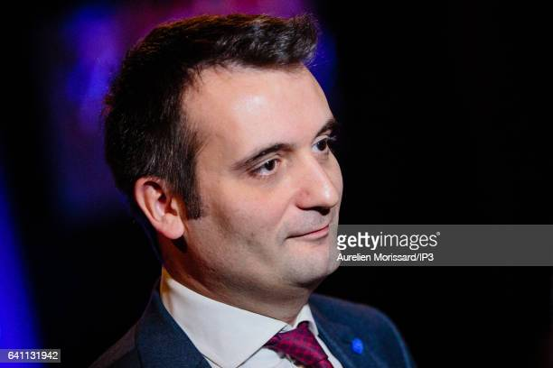 Florian Philippot Vice President of the French far right National Front political party attends the 'Assises de la présidentielle' of Marine Le Pen...