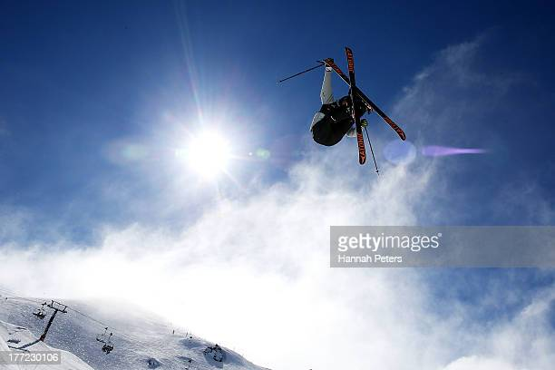 Florian Preuss of Germany competes in the FIS Freestyle Ski Slopestyle World Cup Qualifying during day nine of the Winter Games NZ at Cardrona Alpine...