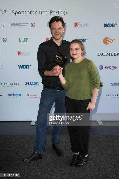 Florian Schwarz and Lena Urzendowsky attend the 53rd Grimme Award at Theater Marl on March 31 2017 in Marl Germany