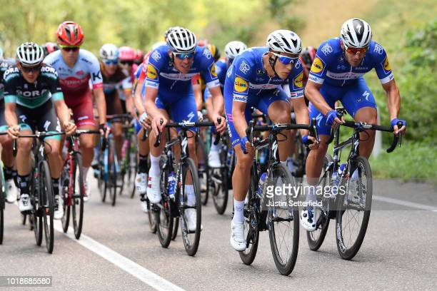 Florian Senechal of France and Team Quick Step Floors / Tim Declercq of Belgium and Team Quick Step Floors / Niki Terpstra of Netherlands and Team...