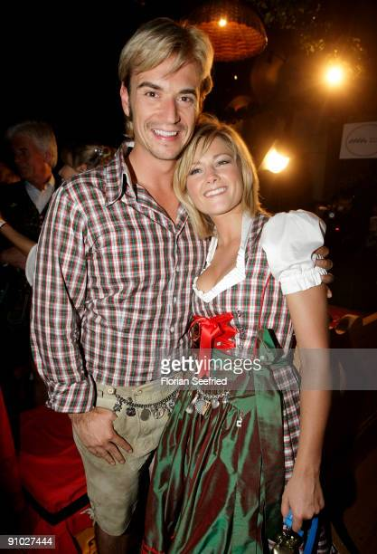 Florian Silbereisen and Helene Fischer attend the GoldstarTV wiesn 2009 at Weinzelt at the Theresienwiese on September 22 2009 in Munich Germany...