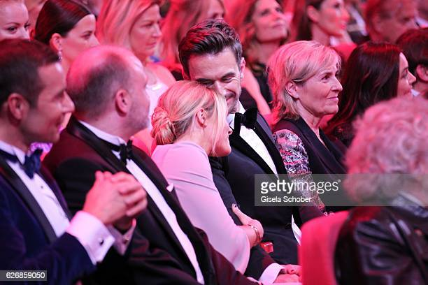Florian Silbereisen and his girlfriend Helene Fischer in the audience during the Bambi Awards 2016 show at Stage Theater on November 17 2016 in...
