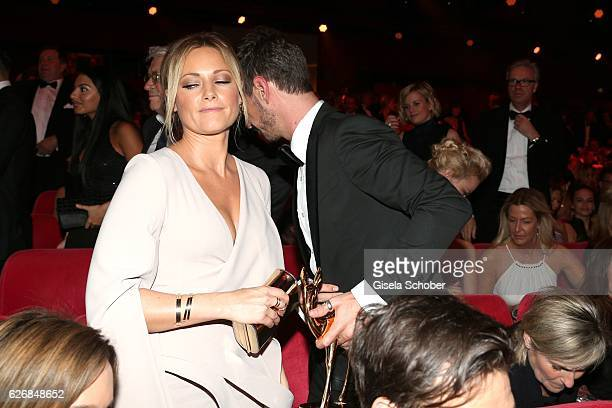 Florian Silbereisen and his girlfriend Helene Fischer leave the Bambi Awards 2016 show at Stage Theater on November 17 2016 in Berlin Germany