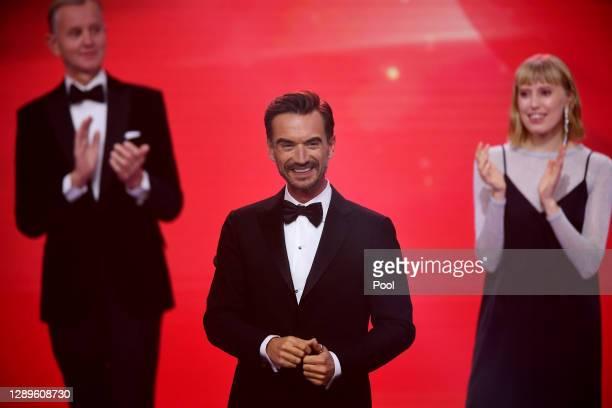 """Florian Silbereisen is seen on stage during the """"Ein Herz Fuer Kinder"""" Gala at Studio Berlin Adlershof on December 05, 2020 in Berlin, Germany."""