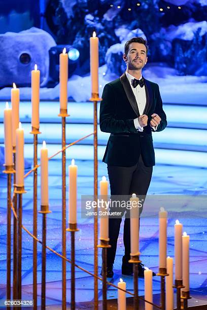 Florian Silbereisen is seen on stage during the tv show 'Das Adventsfest der 100.000 Lichter' on November 26, 2016 in Suhl, Germany.
