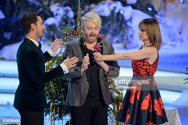 Florian Silbereisen Ross Antony and Francine Jordi are seen on stage during the tv show 'Das Adventsfest der 100000 Lichter' on November 26 2016 in...
