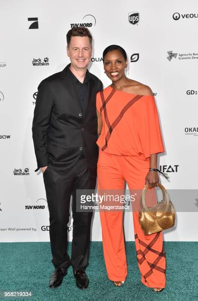 Florian Simbeck and his wife Stephanie attend the GreenTec Awards 2018 at ICM Munich on May 13 2018 in Munich Germany