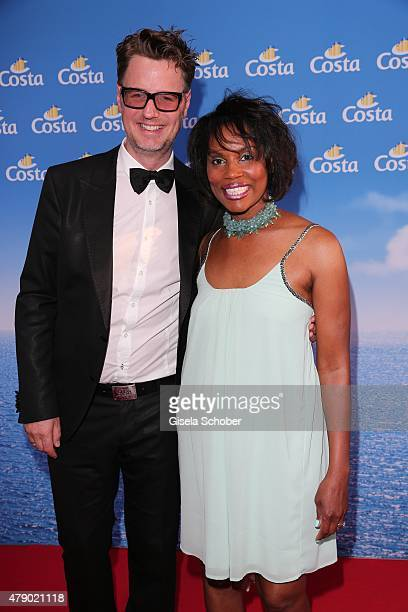 Florian Simbeck and his wife Stephanie attend the Movie meets Media party during the Munich Film Festival on June 29 2015 in Munich Germany