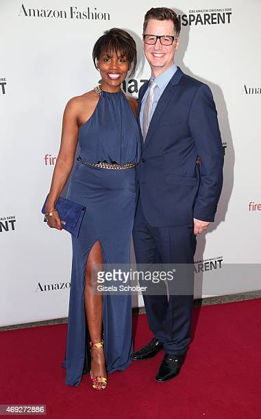 Florian Simbeck and his wife Stephanie during the German premiere for Amazon's original drama series 'Transparent' at Kuenstlerhaus am Lenbachplatz...