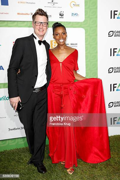 Florian Simbeck and his wife Stephanie Simbeck attend the Green Tec Award at ICM Munich on May 29 2016 in Munich Germany