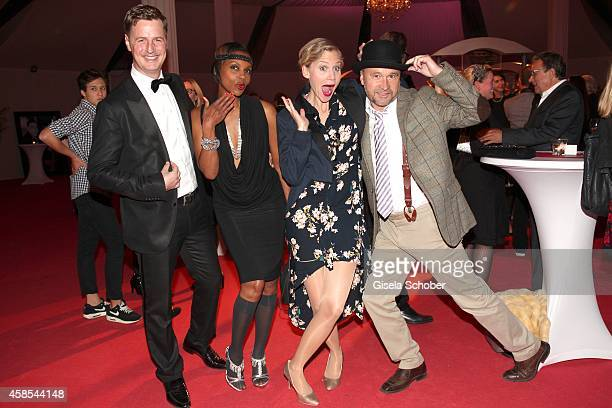 Florian Simbeck and his wife Stephanie Simbeck Thomas Darchinger and his wife Katharina Schwarz attend the Cotton Club Dinnershow Premiere at Ungerer...