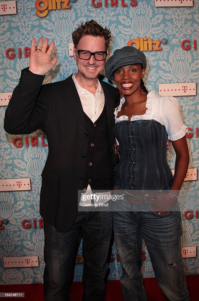 Florian Simbeck and Stephanie Simbeck attend 'Girls' preview event of TV channel glitz* at Hotel Bayerischer Hof on October 16, 2012 in Munich, Germany. The series premieres on October 17, 2012 (every Wednesday at 9:10 pm on glitz*).