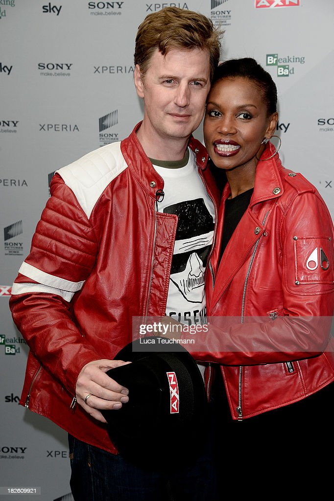 Florian Simbeck and Stephanie Simbeck attends the 'Breaking Bad' Screening Party at the Cosy-Wash on October 1, 2013 in Berlin, Germany.
