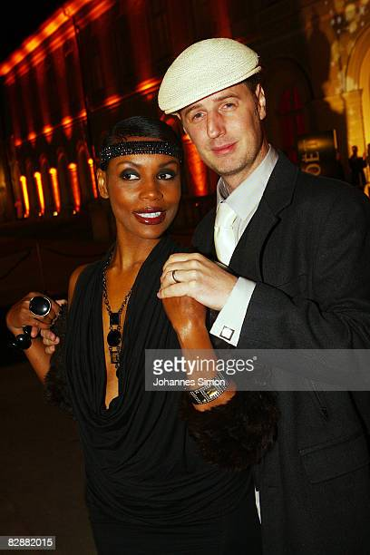 Florian Simbeck and Stephanie Stewart attend the 'Fabulous Celebration' at Nymphenburg Castle on September 18 2008 in Munich Germany French champagne...