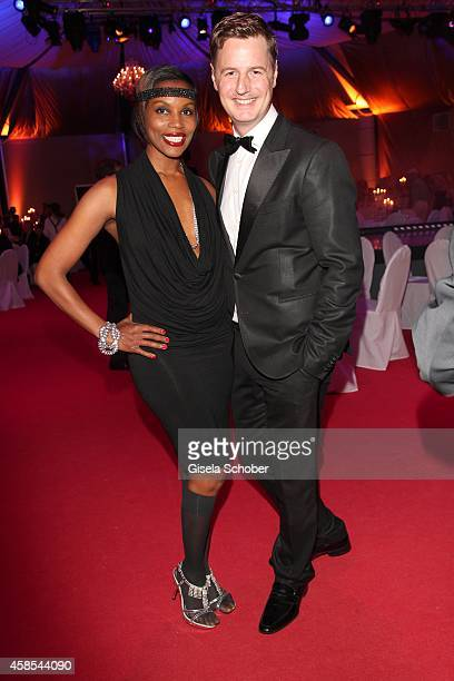 Florian Simbeck Stephanie Simbeck attend the Cotton Club Dinnershow Premiere at Ungerer Bad on November 6 2014 in Munich Germany