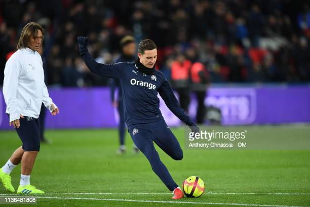 Florian Thauvin during the Ligue 1 match between Paris Saint Germain and Olympique de Marseille at Parc des Princes on March 17 2019 in Paris France