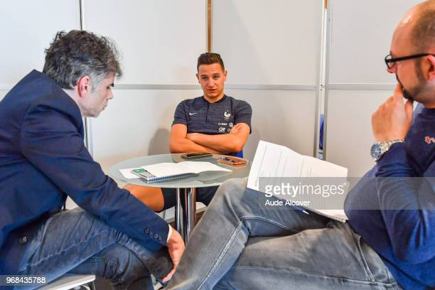 Florian Thauvin during the Press Conference of French Football Team on June 6 2018 in Paris France