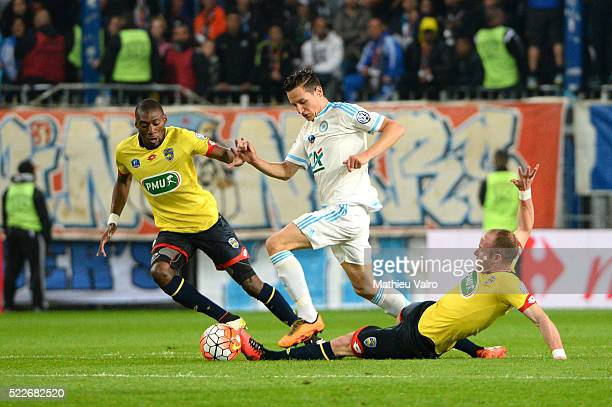Florian Thauvin during the semifinal French Cup between Sochaux and Olympique de Marseille at Stade Auguste Bonal on April 20 2016 in Montbeliard...