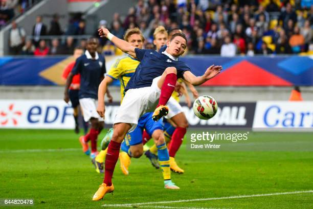 Florian THAUVIN / Ludwig AUGUSTINSSON Suede / France Eliminatoires Euro Espoirs 2015 Photo Dave Winter / Icon Sport