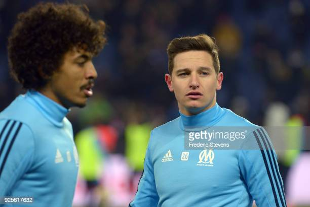 Florian Thauvin midfielder of Olympique Marseille during the warm up before the French cup match between Paris Saint Germain and Olympique Marseille...