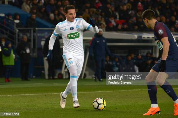 Florian Thauvin midfielder of Olympique Marseille runs with the ball during the French cup match between Paris Saint Germain and Olympique Marseille...