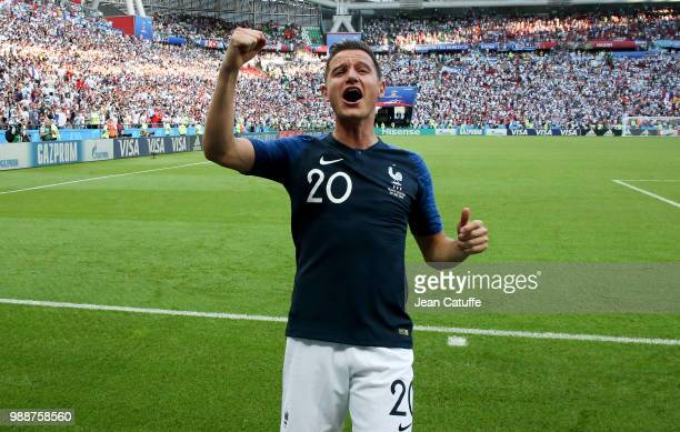 Florian Thauvin of France celebrates the victory following the 2018 FIFA World Cup Russia Round of 16 match between France and Argentina at Kazan...