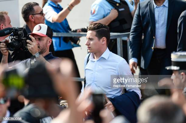 Florian Thauvin of France during the arrival at Airport Roissy Charles de Gaulle on July 16 2018 in Paris France
