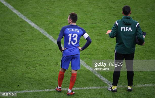 Florian Thauvin of France in action entry on the pitch during the friendly match between France and Wales at Stade de France on November 10 2017 in...
