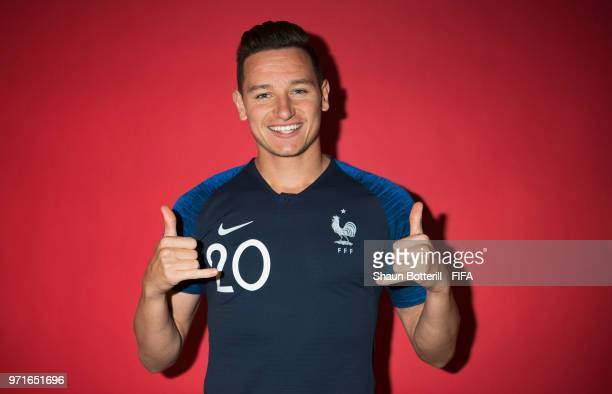 Florian Thauvin of France poses for a potrait at the team hotel during the official FIFA World Cup 2018 portrait session at on June 11 2018 in Moscow...