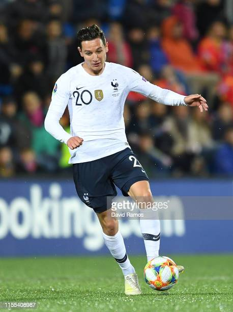 Florian Thauvin of France runs with the ball during the UEFA Euro 2020 Qualification match between Andorra and France at Estadi Nacional on June 11,...