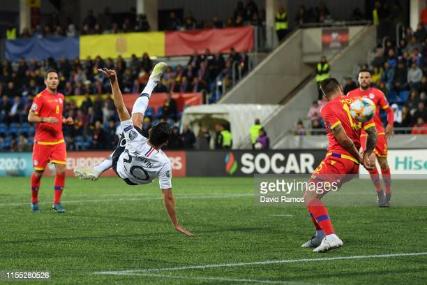 Florian Thauvin of France scores his team's third goal during the UEFA Euro 2020 Qualification match between Andorra and France on June 11 2019 in...