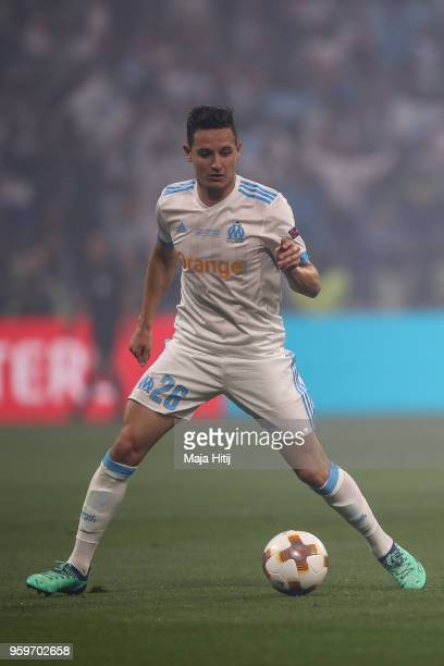 Florian Thauvin of Marseille controls the ball during the UEFA Europa League Final between Olympique de Marseille and Club Atletico de Madrid at...
