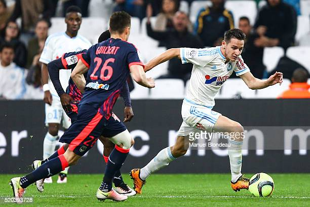 Florian Thauvin of Marseille during the French League 1 match between Olympique de Marseille and FC Girondins de Bordeaux at Stade Velodrome on April...
