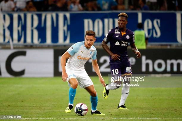 Florian Thauvin of Marseille during the French Ligue 1 match between Marseille and Toulouse at Stade Velodrome on August 10 2018 in Marseille France