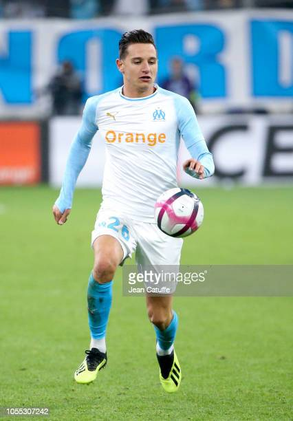Florian Thauvin of Marseille during the french Ligue 1 match between Olympique de Marseille and Paris SaintGermain at Stade Velodrome on October 28...