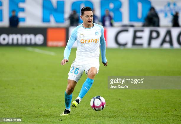 Florian Thauvin of Marseille during the french Ligue 1 match between Olympique de Marseille and Paris Saint-Germain at Stade Velodrome on October 28,...