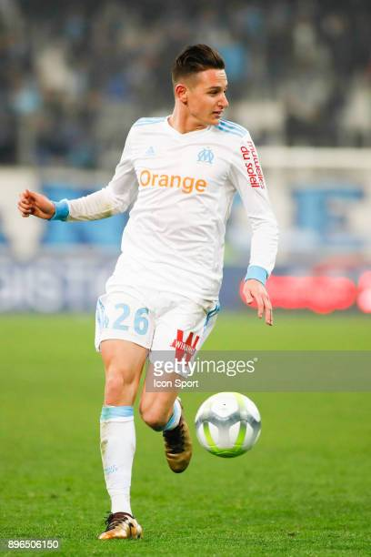 Florian Thauvin of Marseille during the Ligue 1 match between Olympique Marseille and Troyes AC at Stade Velodrome on December 20 2017 in Marseille