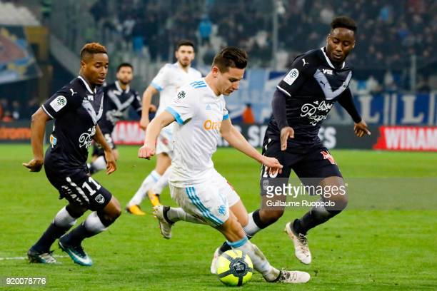 Florian Thauvin of Marseille during the Ligue 1 match between Olympique Marseille and FC Girondins de Bordeaux at Stade Velodrome on February 18 2018...
