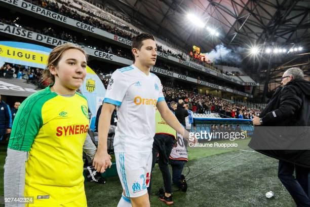 Florian Thauvin of Marseille during the Ligue 1 match between Olympique Marseille and Nantes at Stade Velodrome on March 4 2018 in Marseille