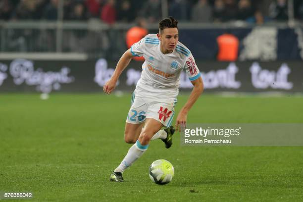 Florian Thauvin of Marseille in action during the Ligue 1 match between FC Girondins de Bordeaux and Olympique Marseille at Stade Matmut Atlantique...