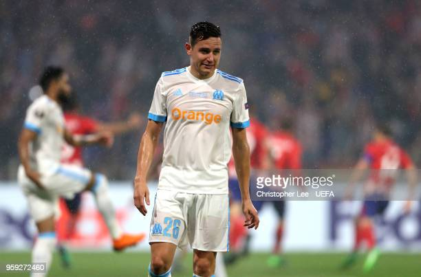 Florian Thauvin of Marseille looks on during the UEFA Europa League Final between Olympique de Marseille and Club Atletico de Madrid at Stade de Lyon...