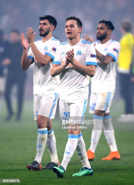 Florian Thauvin of Marseille walks off dejected after the UEFA Europa League Final between Olympique de Marseille and Club Atletico de Madrid at...