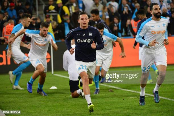 Florian Thauvin of Marseille warms up before the Ligue 1 match between Olympique Marseille and Paris Saint Germain on October 28 2018 in Marseille...