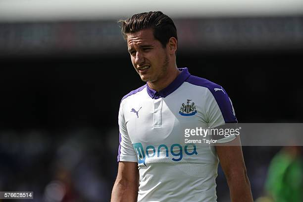 Florian Thauvin of Newcastle during the PreSeason Friendly between Bohemian and Newcastle United at Dalymount Park on July 16 in Dublin Ireland
