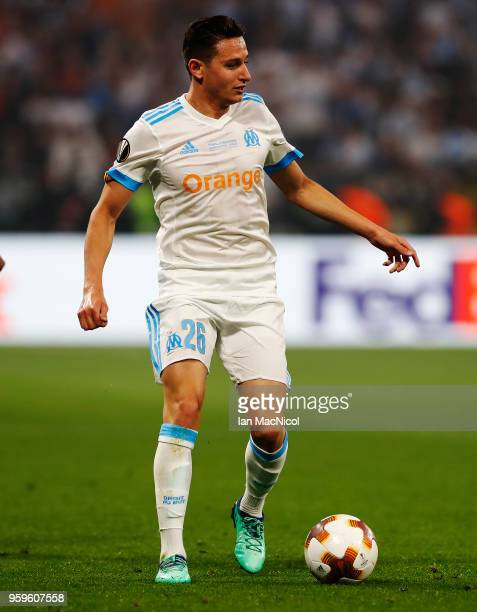 Florian Thauvin of Olympique de Marseille controls the ball during the UEFA Europa League Final between Olympique de Marseille and Club Atletico de...