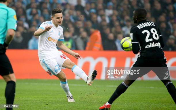 Florian Thauvin of OM during the French Ligue 1 match between Olympique de Marseille OM and Olympique Lyonnais OL at Stade Velodrome on March 18 2018...